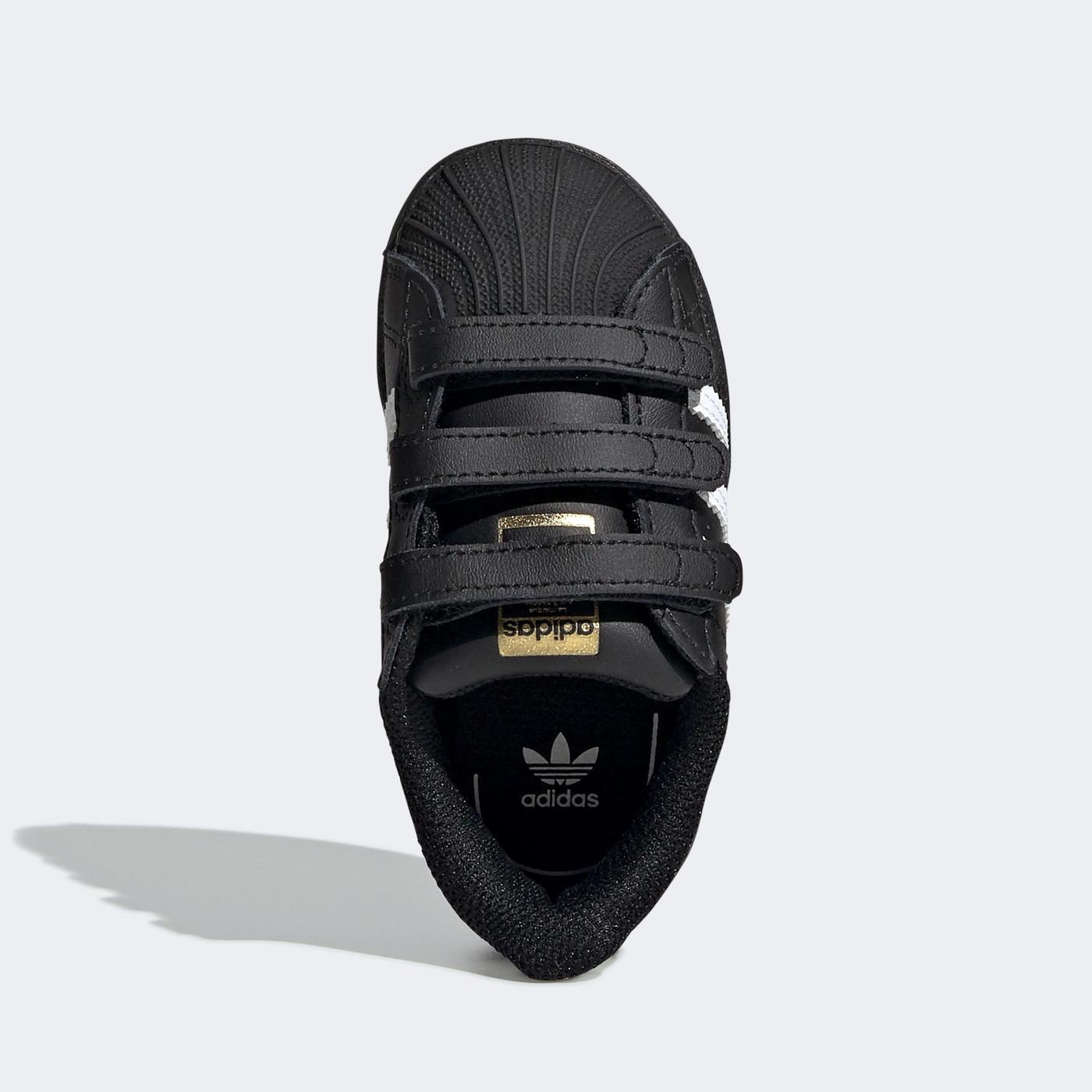 adidas Superstar Bebek Siyah Spor Ayakkabı
