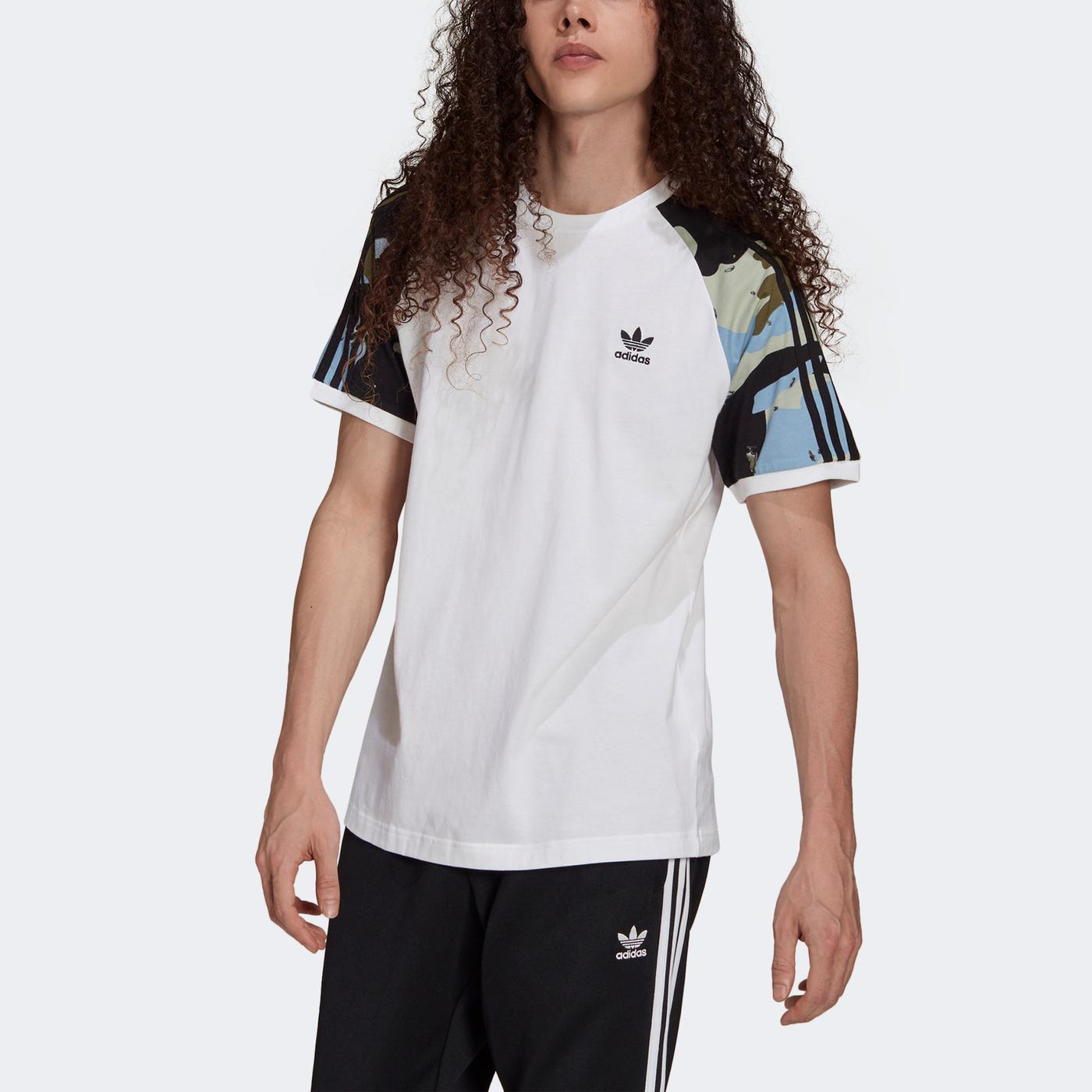 adidas Camo Cali Erkek Beyaz T-shirt
