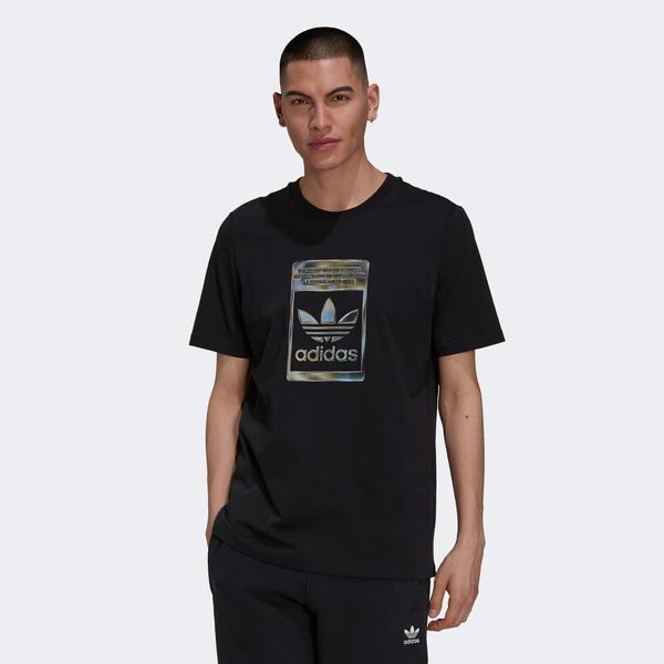 adidas Camo Infill Erkek Siyah T-shirt
