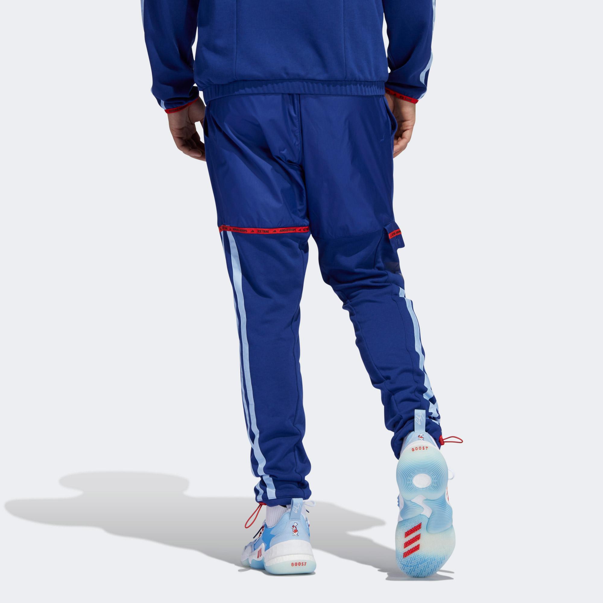 adidas Trae Erkek Mavi Eşofman Altı