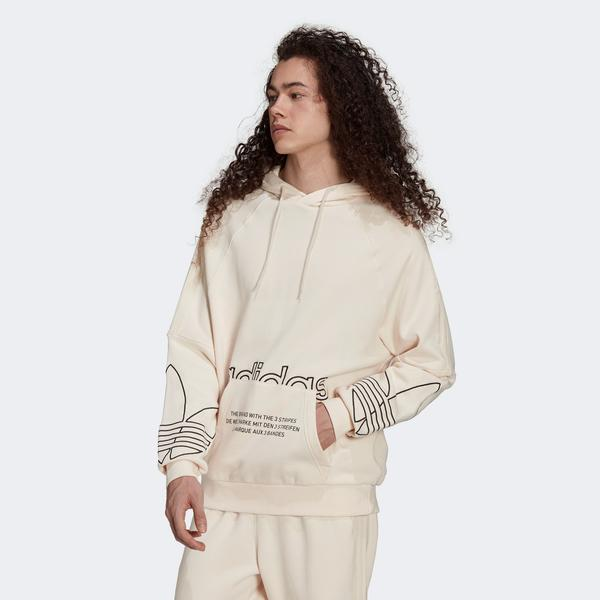 adidas Tricolar Erkek Beyaz Sweatshirt