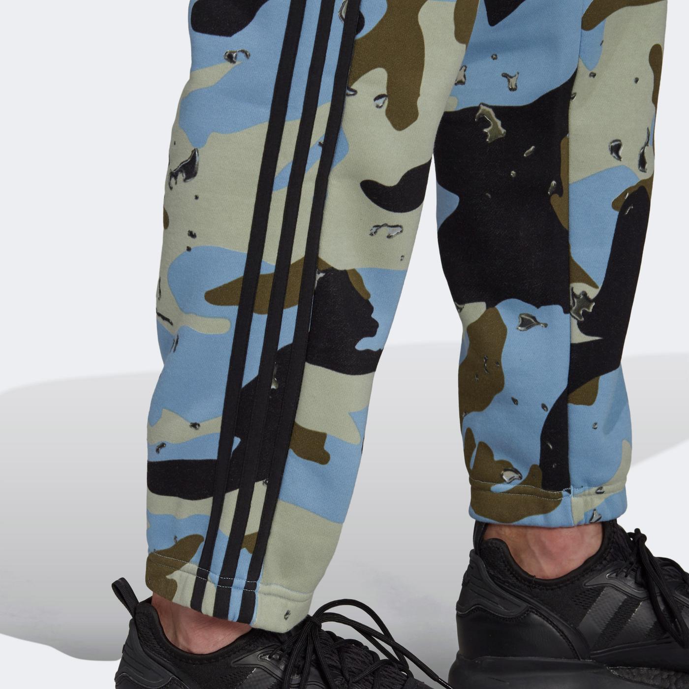 adidas Camo Erkek Mavi Eşofman Altı