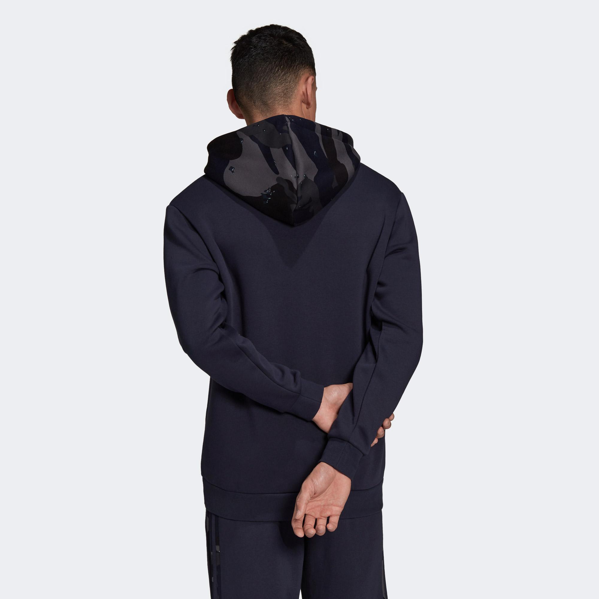 adidas Camo Erkek Lacivert Sweatshirt