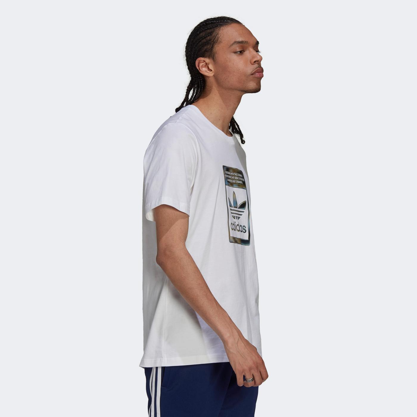adidas Camo Infill Erkek Beyaz T-shirt