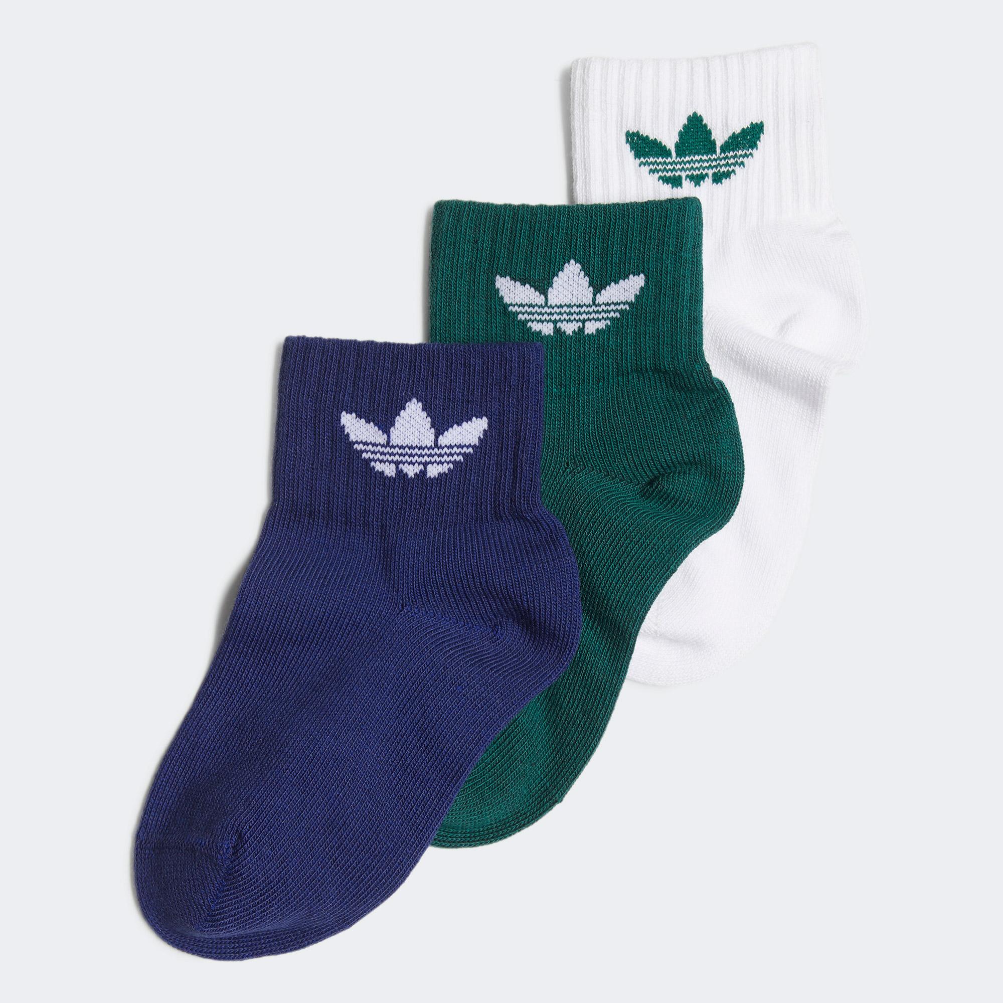 adidas Ankle Çocuk Beyaz Çorap