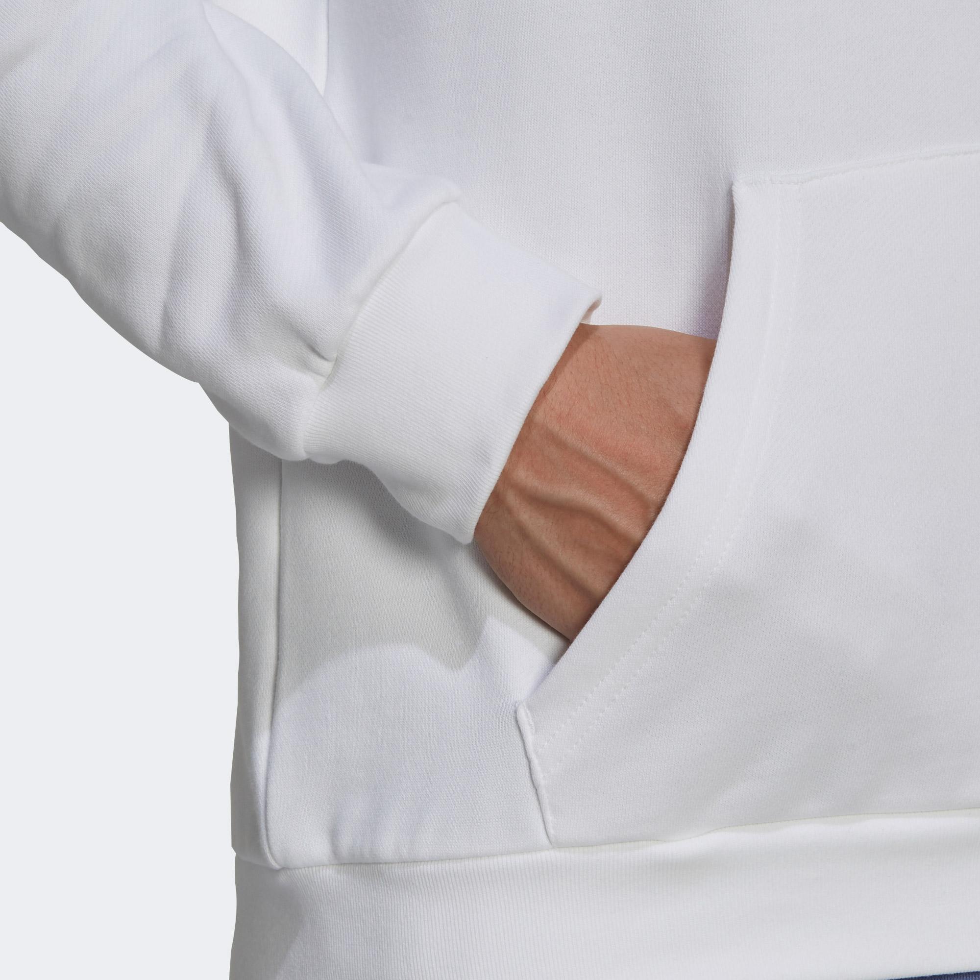 adidas Erkek Beyaz Sweatshirt
