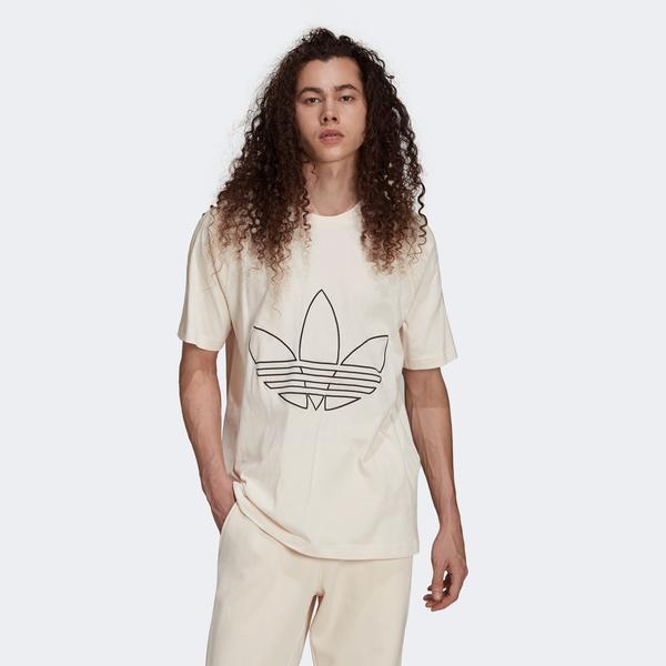 adidas Tricolar Erkek Beyaz T-shirt
