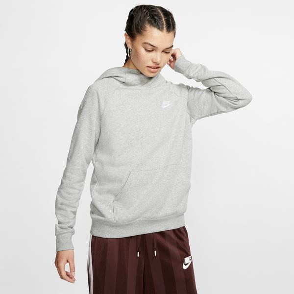 Nike Essential Funnel-Neck Fleece Kadın Gri Sweatshirt