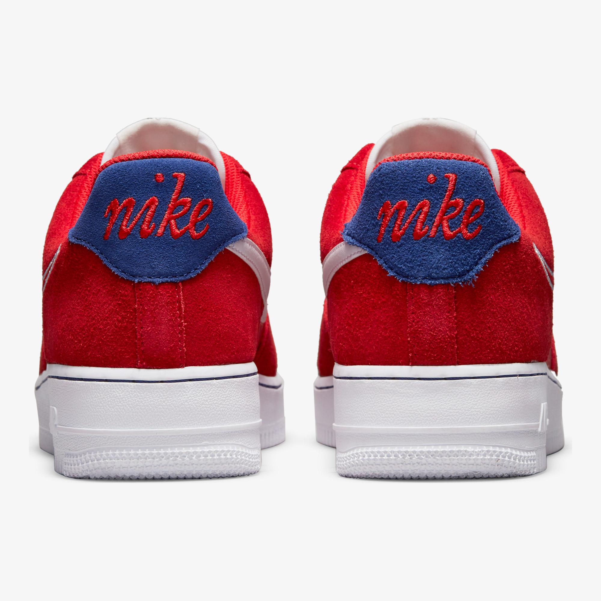 Nike Air Force 1 '07 Lv8 Erkek Kırmızı Spor Ayakkabı