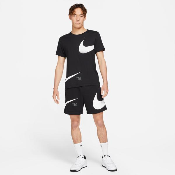 Nike Swoosh French Terry Erkek Siyah Şort
