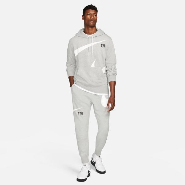 Nike Swoosh Semi-Brushed Back Erkek Gri Eşofman Altı