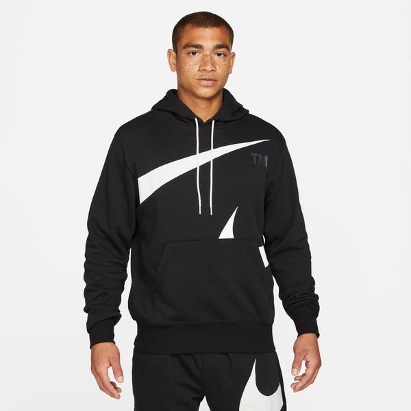 Nike Swoosh Semi-Brushed Erkek Siyah Sweatshirt