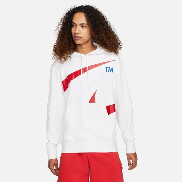 Nike Swoosh Semi-Brushed Erkek Beyaz Sweatshirt