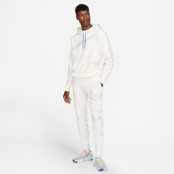 Nike Swoosh Semi-Brushed Back Erkek Beyaz Eşofman Altı