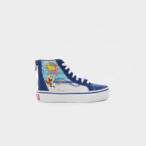 Vans X Spongebob Sk8-Hi Zıp Çocuk Mavi Sneakers