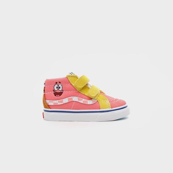 Vans Spongebob Sk8-Mid Reissue Velcro Bebek Pembe Sneakers