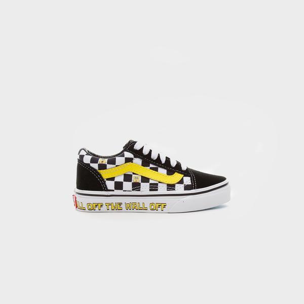 Vans X Spongebob Old Skool Çocuk Siyah Sneakers
