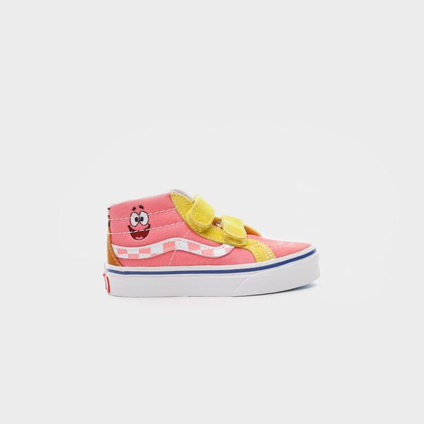 Vans X Spongebob Sk8-Mid Reissue Velcro Çocuk Pembe Sneakers