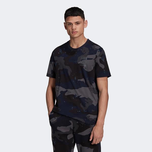 adidas Camo Erkek Lacivert T-shirt
