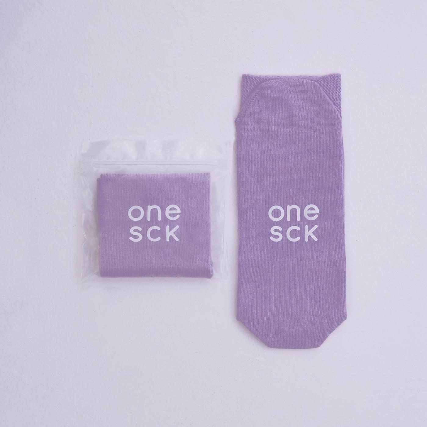 ONESCK Orchid Purple One Unisex Mor Çorap