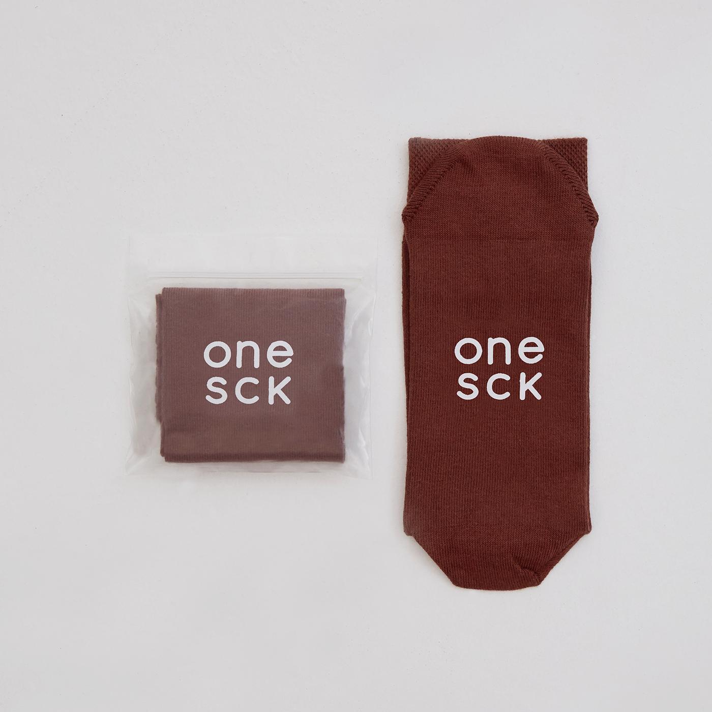 ONESCK Mocha Brown One Unisex Kahverengi Çorap