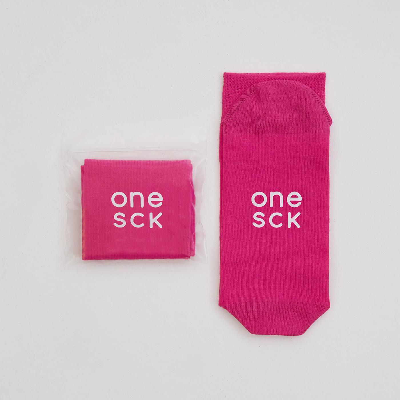 ONESCK Hot Pink One Unisex Pembe Çorap