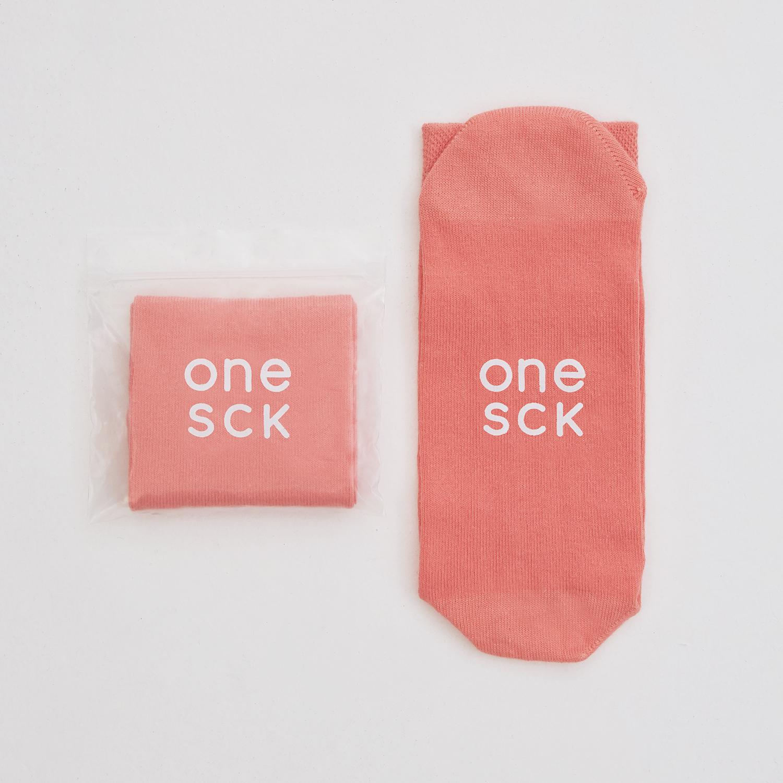 ONESCK Coral Pink One Unisex Pembe Çorap