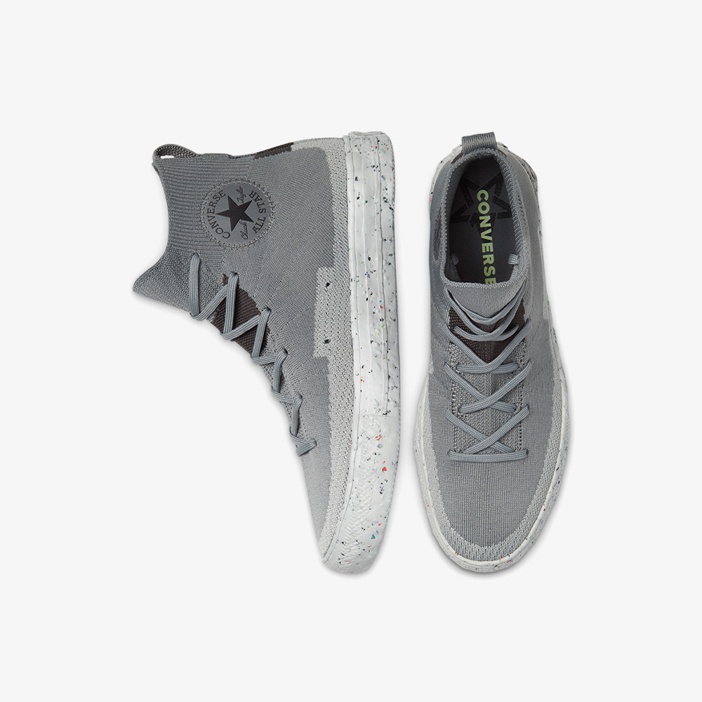 Converse ChuckTaylor All Star Crater Knit Hi Erkek Gri Sneaker