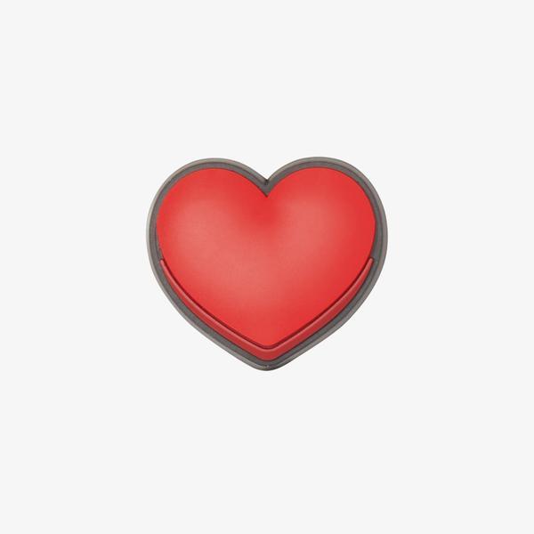 Jibbitz Heart Unisex Kırmızı Terlik Süsü