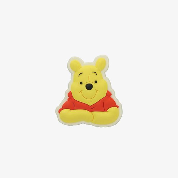 Jibbitz Winnie Face Charm Unisex Sarı Terlik Süsü