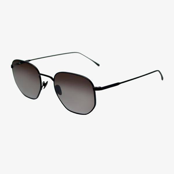 Lacoste Rectangle Unisex Siyah Güneş Gözlüğü
