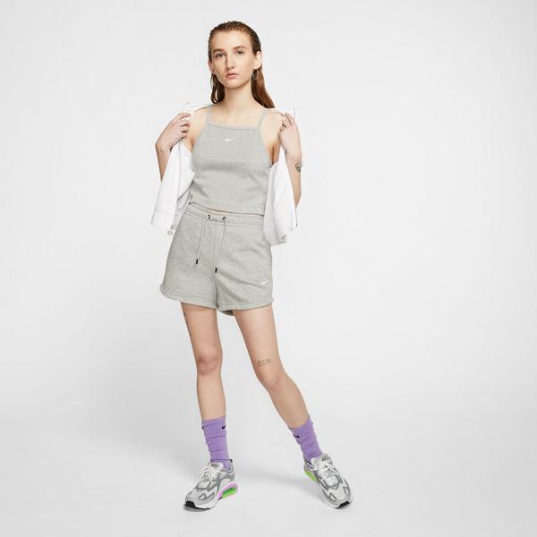 Nike Essential French Terry Kadın Gri Şort