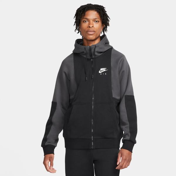 Nike Air Brushed-Back Erkek Siyah Hoodie