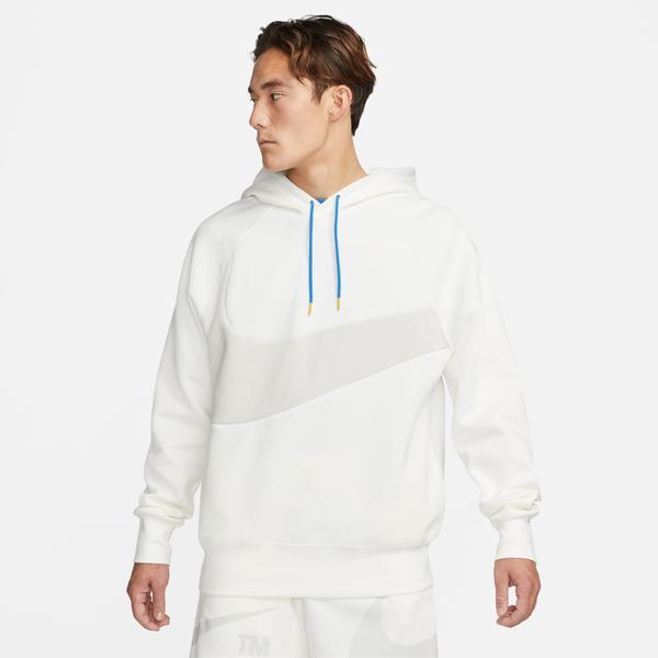 Nike Sportswear Swoosh Tech Fleece Erkek Beyaz Sweatshirt