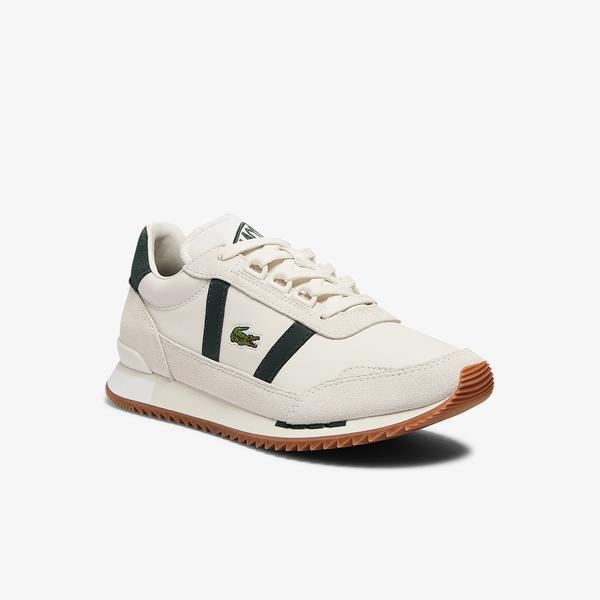 Lacoste Partner Retro 0721 1 Sfa Kadın Beyaz - Koyu Yeşil Spor Ayakkabı