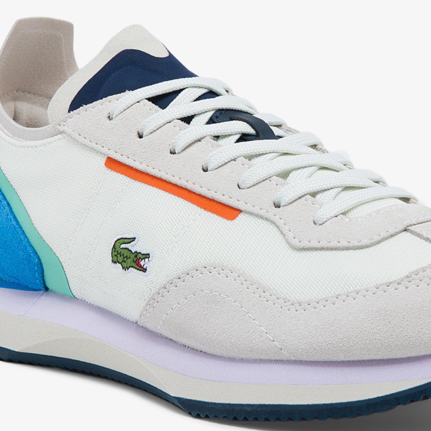 Lacoste Match Break Kadın Beyaz - Mavi Spor Ayakkabı