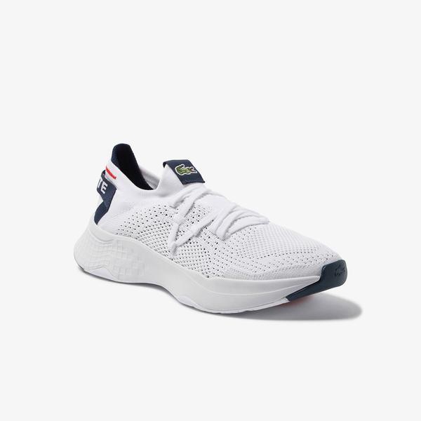Lacoste Court-Drive Knit Erkek Beyaz Spor Ayakkabı