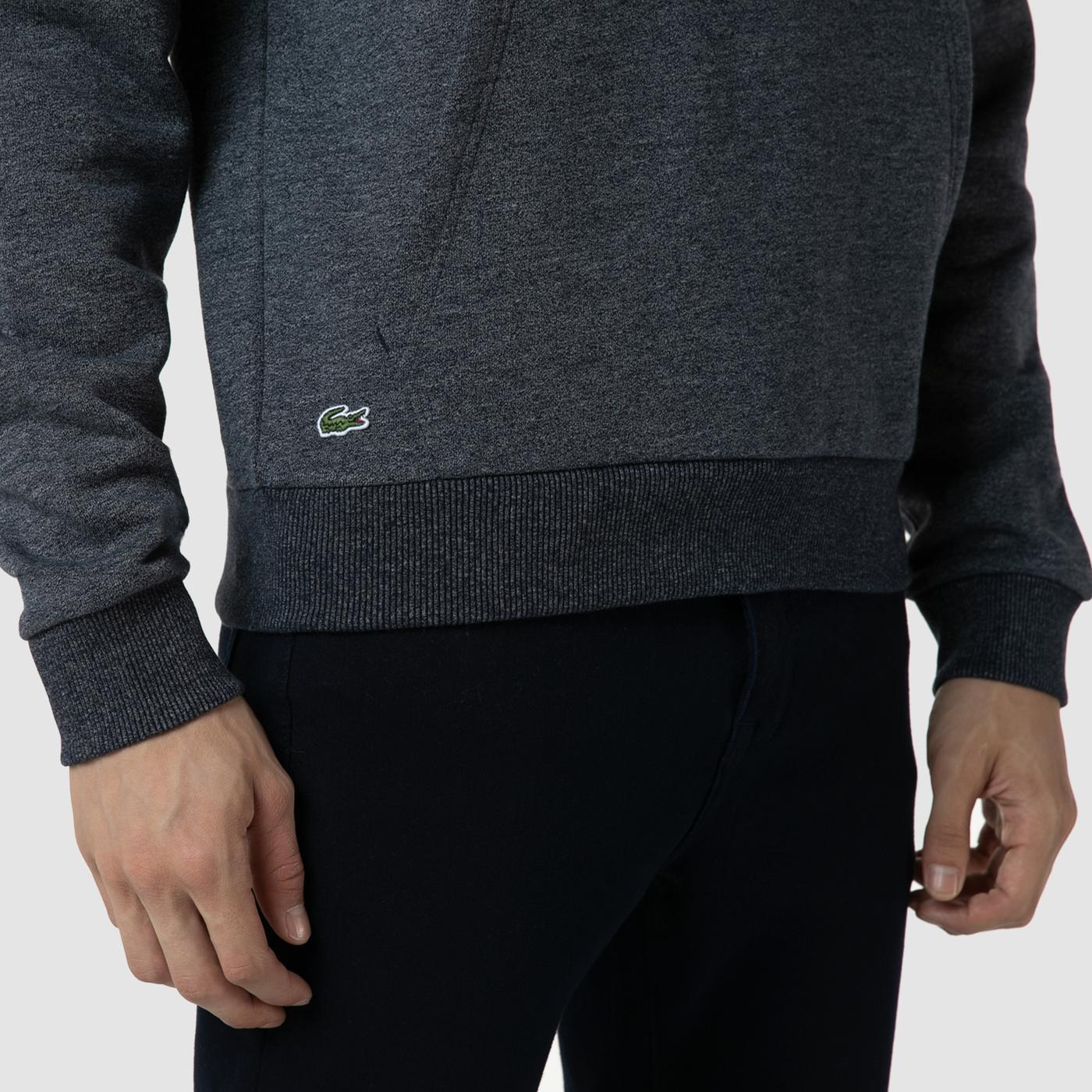 Lacoste Erkek Relaxed Fit Kapüşonlu Nakışlı Lacivert Sweatshirt