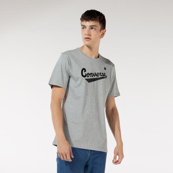 Converse Nova Center Front Vgh Erkek Gri T-Shirt