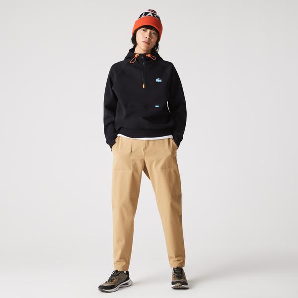 Lacoste Erkek Relaxed Fit Kapüşonlu Lacivert Sweatshirt