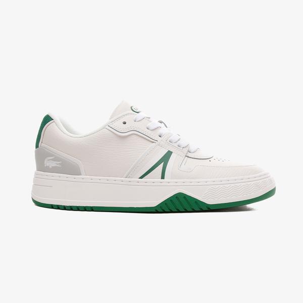 Lacoste L001 Kadın Deri Beyaz - Yeşil Spor Ayakkabı