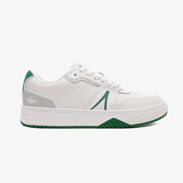 Lacoste L001 Erkek Deri Beyaz - Yeşil Spor Ayakkabı