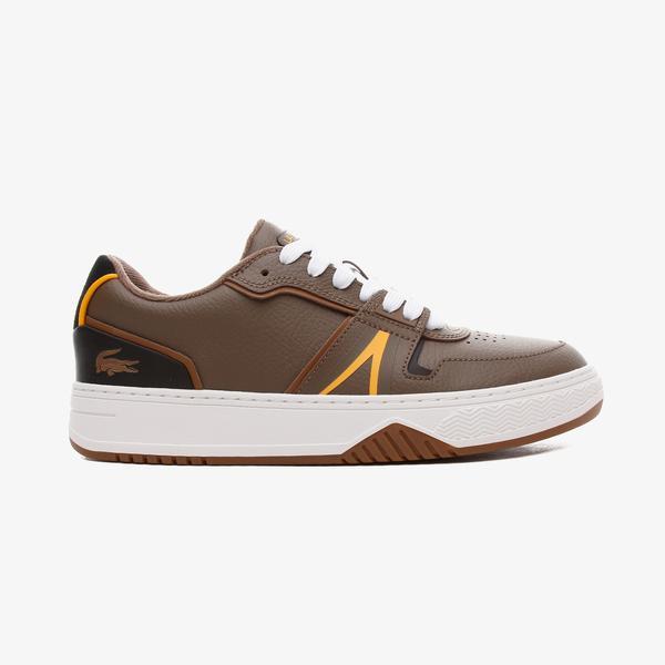 Lacoste L001 Erkek Deri Kahverengi - Siyah Spor Ayakkabı
