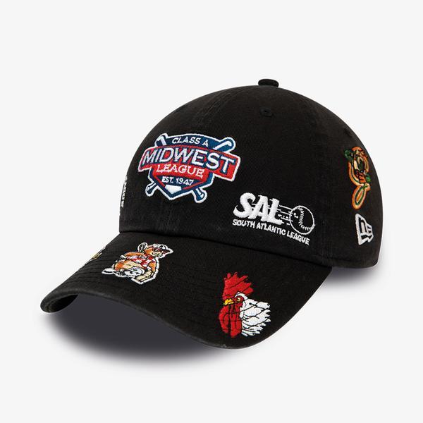 New Era Port Cıty Roosters Badge Black Casual Classıc Unisex Siyah Şapka