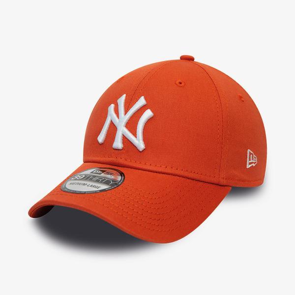 New Era New York Yankees League Essential Orange 39Thirty Unisex Kırmızı Şapka