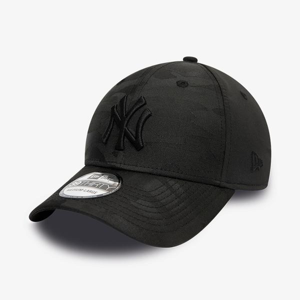 New Era New York Yankees Camo Black 39Thirty Unisex Siyah Şapka