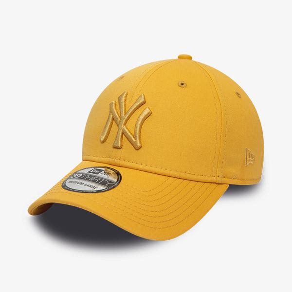 New Era New York Yankees League Essential Gold 39Thirty Cap Unisex Sarı Şapka