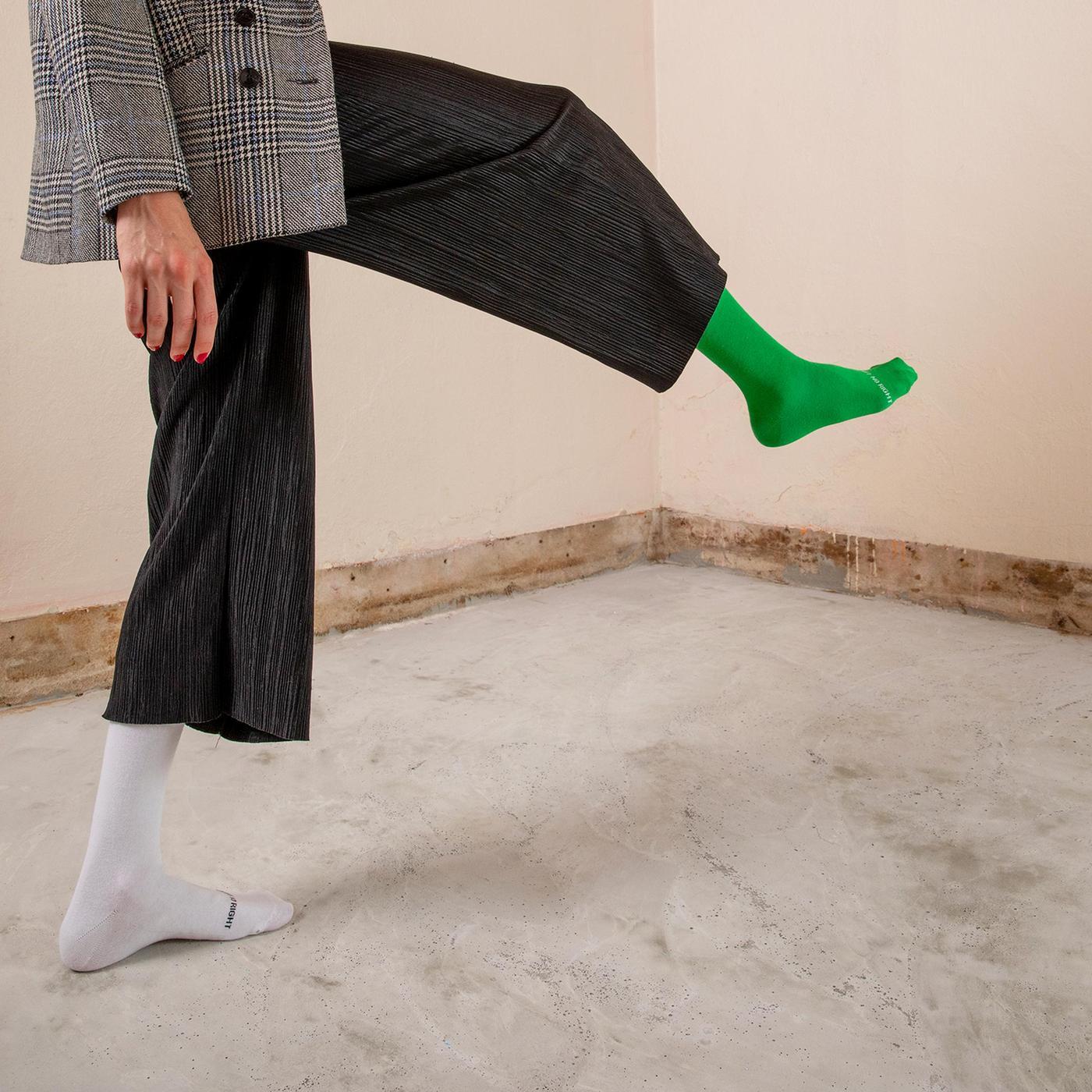ONESCK Off White One Unisex Beyaz Çorap