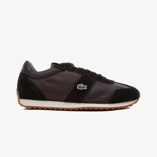 Lacoste Court Pace Kadın Deri Siyah - Gümüş Spor Ayakkabı
