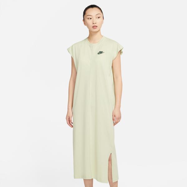 Nike Sportswear Earth Day Ft Kadın Yeşil Elbise